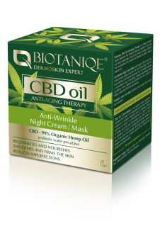 Biotaniqe CBD Oil Ránctalanító Éjszakai  Krém/maszk 50ml