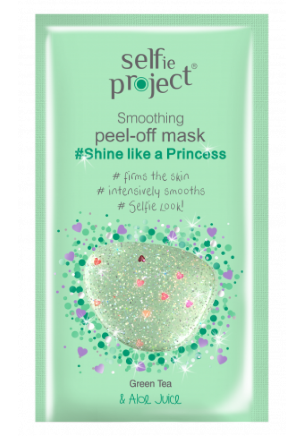 Selfie Project Shine like a Princess Kisimító peel-off maszk 12ml