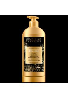 LUXURY EXPERT 24k Gold Tápláló Testápoló Aranyszemcsékkel 350ml