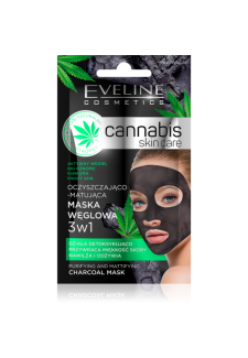Cannabis skin care maszk