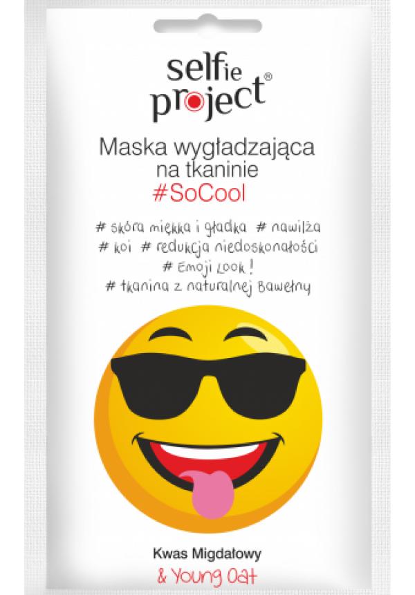 Selfie Project #SoCool kisimító szövetmaszk 1db/15ml