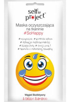 Selfie Project #SoHappy tisztító szövetmaszk 1db/15ml
